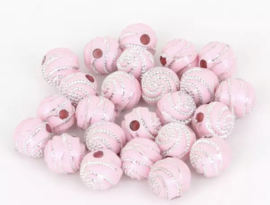 Swirl roze 50 stuks 8 mm