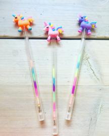 Unicorn meerkleuren pen