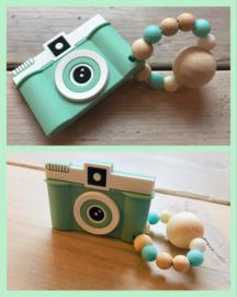 Mini bijtring met fototoestel in 5 kleuren