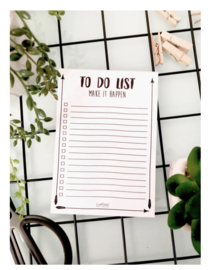 To do list notitieboekje