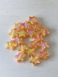 25 sterren 11x4mm oranje
