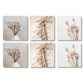 Onderzetters bloem