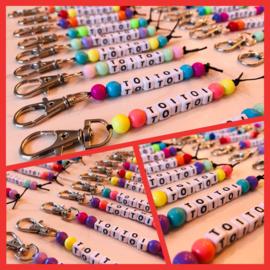 Hippe kleuren sleutelhanger