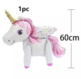 Unicorn wit folieballon