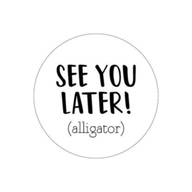 SEE YOU LATER SLUITSTICKER