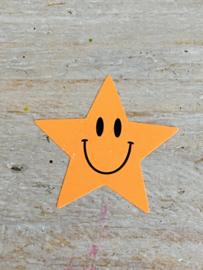 Sticker neon ster Oranje