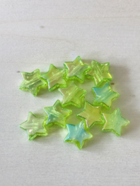 25 sterren 11x4mm Lichtgroen