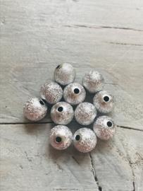 Glitter zilver 50 stuks 8 mm