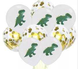 Dino goud 10x ballonnen
