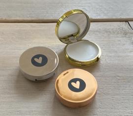 Lippenbalsem doosje met spiegeltjes