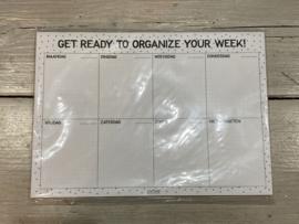 Week planner A4