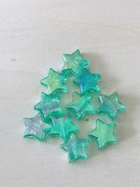25 sterren 11x4mm Donkergroen