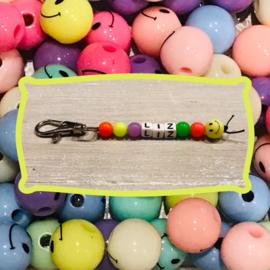 Sleutelhanger-Neon-Smiley