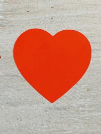 Sticker hart Rood