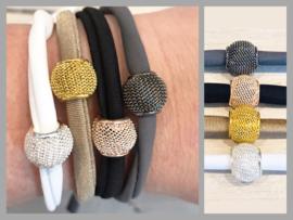 Elastische armband met STOERE kraal