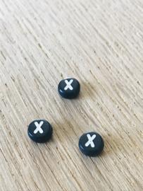10 x letter  X ROND ZWART
