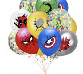 10x superheld mix ballonnen