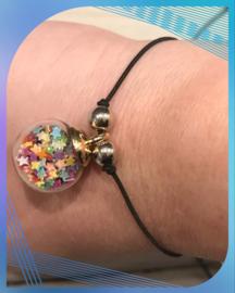 Glitter bollen armband