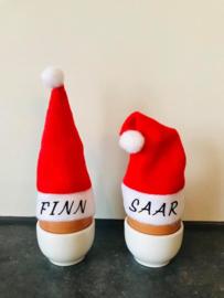 Mini kerstmutsen met naam