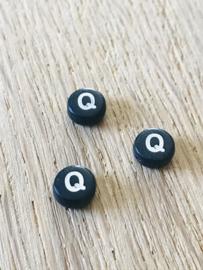 10 x letter Q ROND ZWART