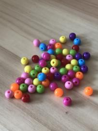 Mix kralen 8 mm 50 stuks