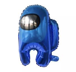 Among us blauw folieballon
