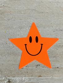 Sticker neon ster Rood/oranje