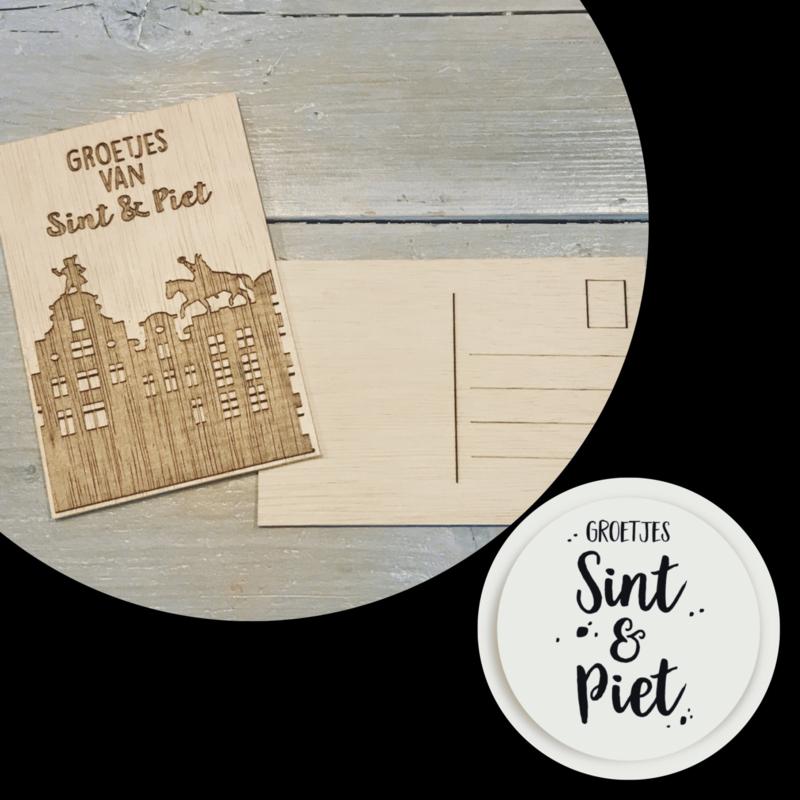 Wenskaart van Sint & Piet