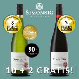 Simonsig Chenin Blanc + Cabernet Sauvignon/Shiraz I 12 Flessen
