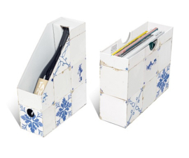 Wijn/ Magazine holder Dutch Tiles