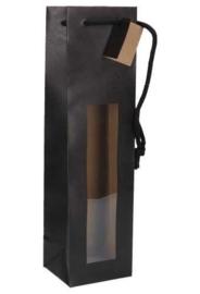 wijnflestas mat zwart