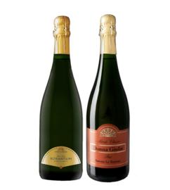 Fattoria Le Terrazze I Rosantium Rosé Brut + Don Giulia Brut I Metodo Classico  I 2 flessen in houten wijnkist
