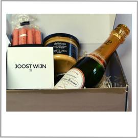 Borrelbox Laurent-Perrier Champagne Brut +  Zoete uien dip & Grissini