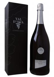 Val d'Oca Prosecco Spumante Brut I Magnum 150 cl in geschenkverpakking I 6 flessen