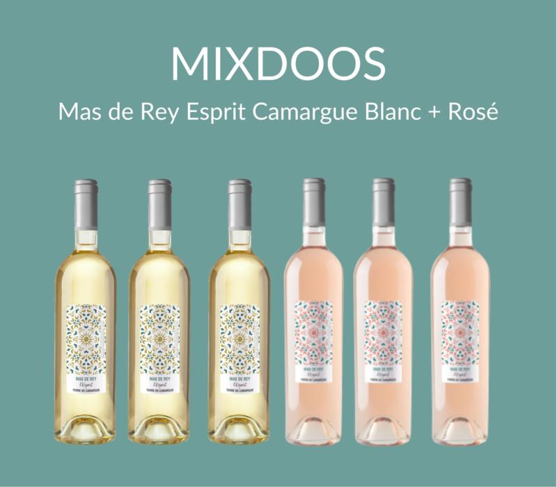 MIXDOOS Domaine du Mas de Rey Esprit Camargue Blanc  + Rosé I 6 flessen