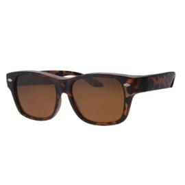 Overzet zonnebril - REVEX - L / XL - havanna bruin