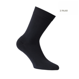 Katoenen sokken - APOLLO CASUAL - badstofzool -3 PAAR - zwart