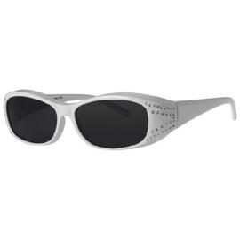 Overzet zonnebril - FIGURETTA - S (300) - wit met steentjes