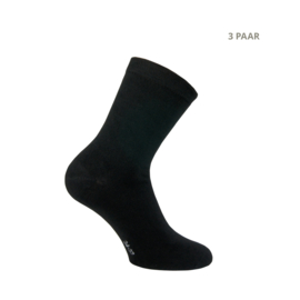 Bamboe sokken - RELAX - 3 PAAR - zwart