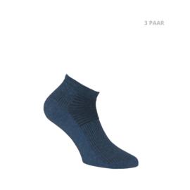 Katoenen sokken - BIKER - 3 PAAR - mix blauw
