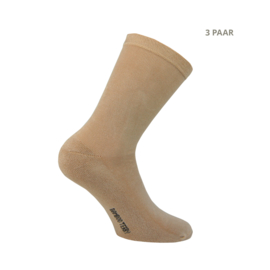 Bamboe sokken - TERRY - 3 PAAR - zand