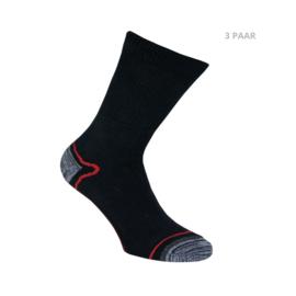 Katoenen sokken - HIKING -antipress boord -  3 PAAR - mix 2