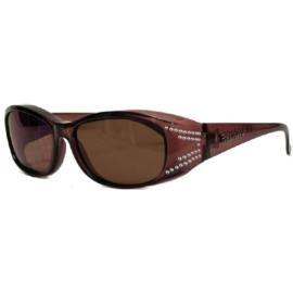 Overzet zonnebril - FIGURETTA - S (300) - coffee met steentjes