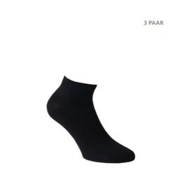 Bamboe sokken - CROSS - 3 PAAR - zwart
