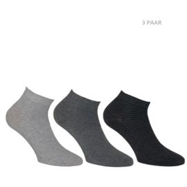 Katoenen sokken - BIKER - 3 PAAR - mix grijs