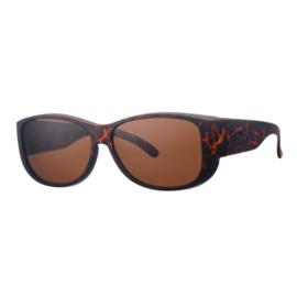 Overzet zonnebril - REVEX - XL -  MEN - mat havanna bruin