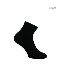 Modal katoenen sokken - BIKER SPORT - 3 PAAR - zwart