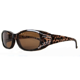 Overzet zonnebril - FIGURETTA - S (300) - panterprint met steentjes