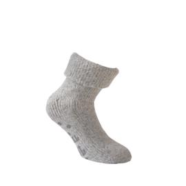 Wollen sokken - HOME - ANTI SLIP - licht grijs