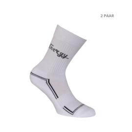 Katoenen sokken - ENERGY SPORTSOKKEN - 2 PAAR - wit